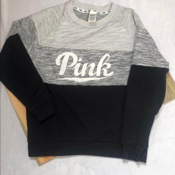 fb123f997e Pink Victoria s Secret Color Block Rare Sweatshirt.  M 5bf1af87194dad4cc3aab6cd